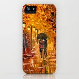 Les amoureux sous la pluie iPhone Case