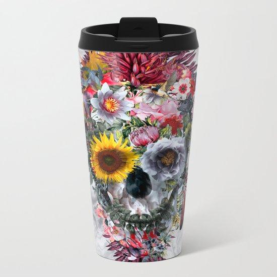 Voodoo Skull Metal Travel Mug