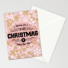 A Thousand Snowflakes in Rose Gold Stationery Cards