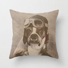 High flying B Throw Pillow