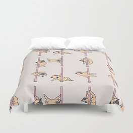 Pugs Pole Dancing Club Duvet Cover