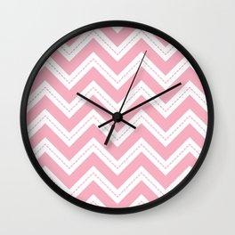 Pink Chevron Wall Clock