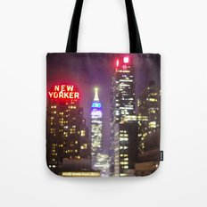 The Empire State Building on a Rainy Night Tote Bag