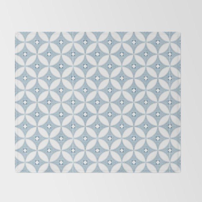 Modern chinoiserie, circle design , grey textures Throw Blanket