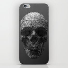 Geometric Grey Skull Lines iPhone Skin