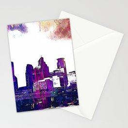 Minneapolis, Minnesota Skyline Stationery Cards