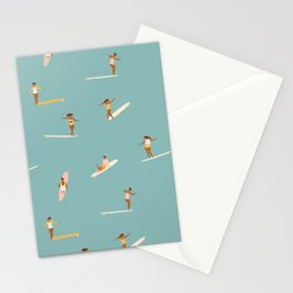 Surf girls Stationery Cards
