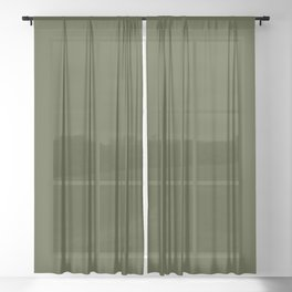 Solid Chive/Herb/Green Pantone Color  Sheer Curtain