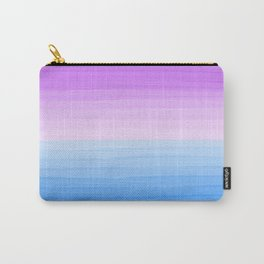 Purple Sunset on Blue Ocean Minimalist Painting Carry-All Pouch