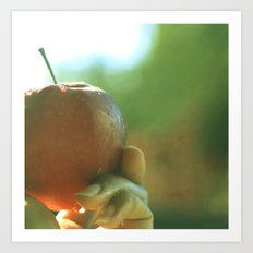 sunny fresh apple Art Print