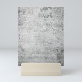concrete wall vintage grey background,  wall texture * Mini Art Print