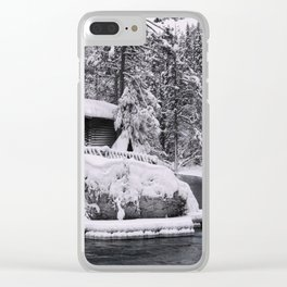 Winter In Lapland Finland Clear iPhone Case