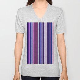 Stripes in colour 8 Unisex V-Neck