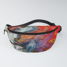 Abstract fire Fanny Pack