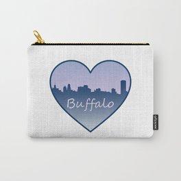 heart buffalo skyline Carry-All Pouch