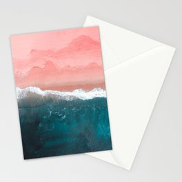 Turquoise Sea Pastel Beach II Stationery Cards