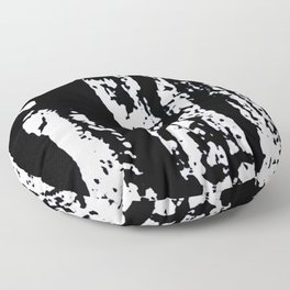 Blank: a minimal black and white linoprint Floor Pillow