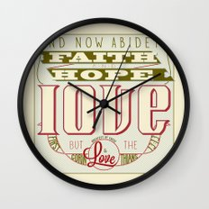 The Greatest of These Is Love (Color Variant)  Wall Clock