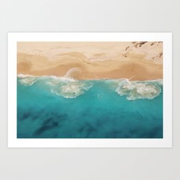 Ocean & Beach Aerial View Art Print
