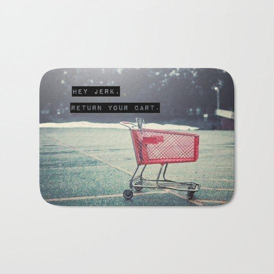 Grocery Cart Rage  Bath Mat