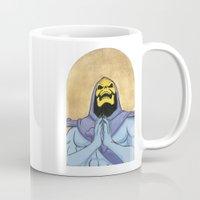 skeletor Mugs featuring Saint Skeletor by Ghirigori Lab