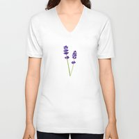 lavender V-neck T-shirts featuring Lavender by She's That Wallflower