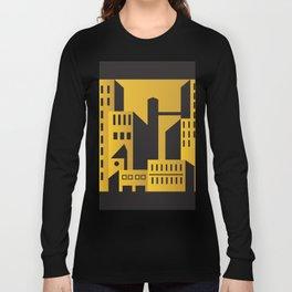 Golden city art deco Long Sleeve T-shirt
