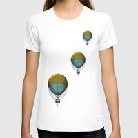 hot air balloons T-shirts featuring Hot Air Balloons by Juste Pixx Designs