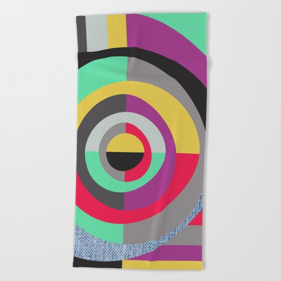Geometric#19 Beach Towel
