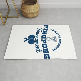 Funny Ping Pong Table Tennis Player Shirt Pong on Rug