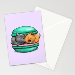 Macaron Cuddles Stationery Cards
