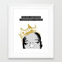 biggie Framed Art Prints featuring Biggie by JulieAaland