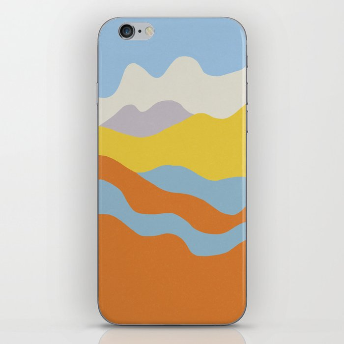 Over The Sunset Mountains iPhone Skin