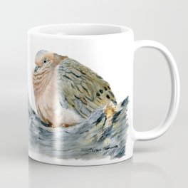 """""""Afternoon Nap"""" Acrylic Painting of a Dove by Teresa Thompson Coffee Mug"""