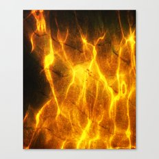 Watery Flames Canvas Print
