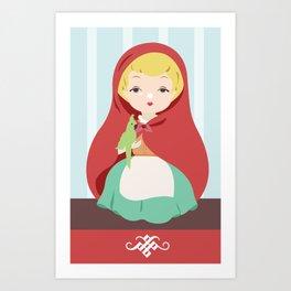 Porcelain Girl (Blond) Art Print