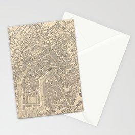 Vintage Map of Bristol England (1851) Stationery Cards