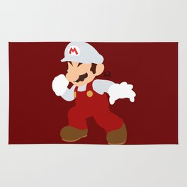 Mario(Smash)Fire Rug