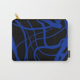 Blue lines on black background Carry-All Pouch