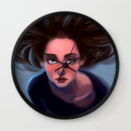 Almost Blue Wall Clock