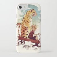 hobbes iPhone & iPod Cases featuring boy and Tiger by Tintanaveia