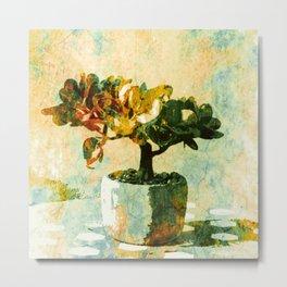 Colorful Bonsai Tree. Still Life Art  Metal Print