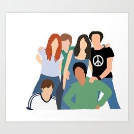 70s crew Art Print