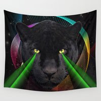 panther Wall Tapestries featuring Panther by mark ashkenazi