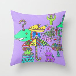 Where the Strange Things Are Throw Pillow