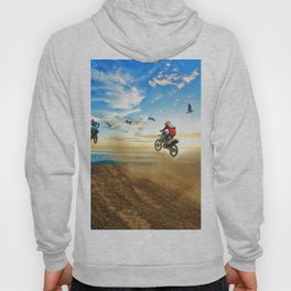 Motocross High Flying Jump with the Birds Hoody