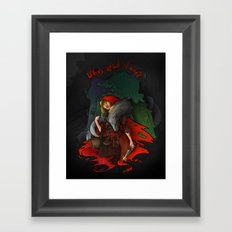 Who's Afraid of Who? Framed Art Print
