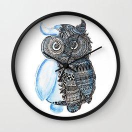 watercolor owl Wall Clock