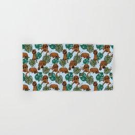 Tropical Redbone Coonhound Hand & Bath Towel
