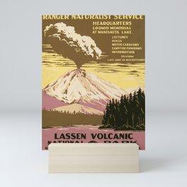 Lassen Volcanic National Park (U.S. National Park Service) - Vintage Poster Mini Art Print